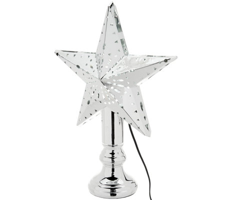 Kringle Express Kaleidoscope Lighting Effect Tree Topper w/ Tabletop Base