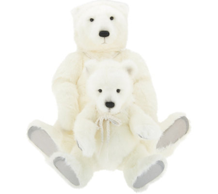 "Charlie Bears Collectible 16"" Portia & Prema Plush Bear"