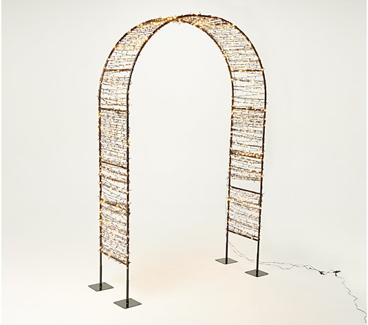 "Bethlehem Lights Indoor/Outdoor 96"" Lit Archway"