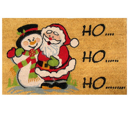 Geo Craft Christmas Coir Doormat