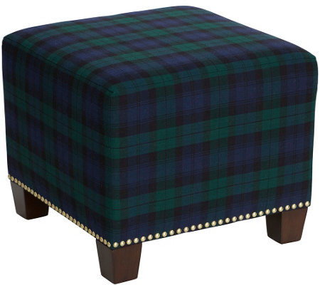 Skyline Furniture Square Nail Button Ottoman