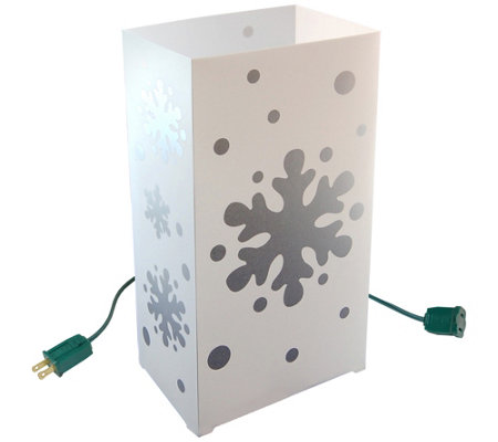Lumabase Set 10 Snowflake Electric Luminarias