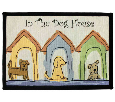 Dogs Houses 19x27 Tapestry Rug