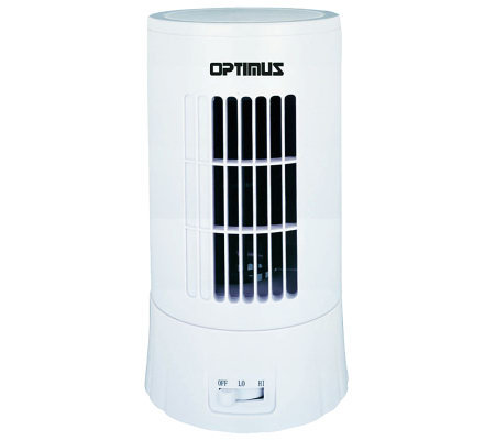 "Optimus F-7324 10"" Desktop Ultra-Slim Tower Fan"