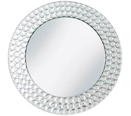 Mirror Charger Plate with Beads
