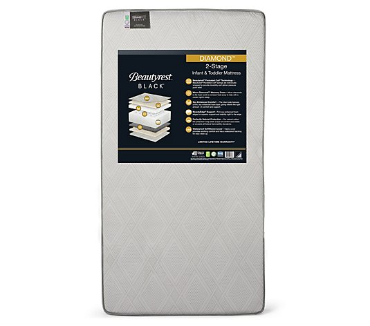 Beautyrest 2 Stage Crib and Toddler Mattress with Memory Foam