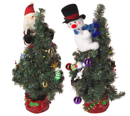 pre decorated 24 animated and musical christmas tree