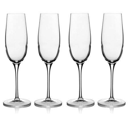 Luigi Bormioli 8-oz Champagne Glasses - Set of4