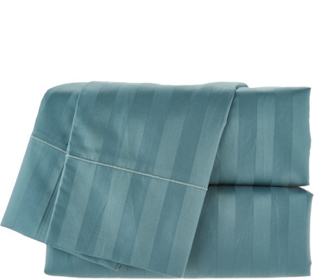 Wamsutta 500TC 100% PimaCott Dobby Stripe TW Sheet Set