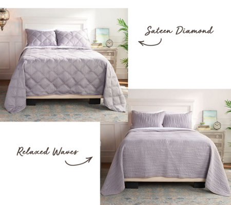 Scott Living Choice of Relaxed or Sateen King Coverlet Set