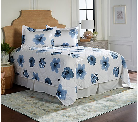Farm to Home Organic Cotton Petal Print Comfy-let & Shams - King