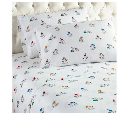 Shavel Micro Flannel Printed King Sheet Set