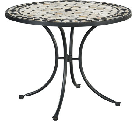 "Home Styles Marble Top 39"" Round Outdoor DiningTable"
