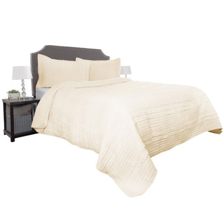2-Piece Oversized Kadyn Twin Quilt Set by Lavish Home