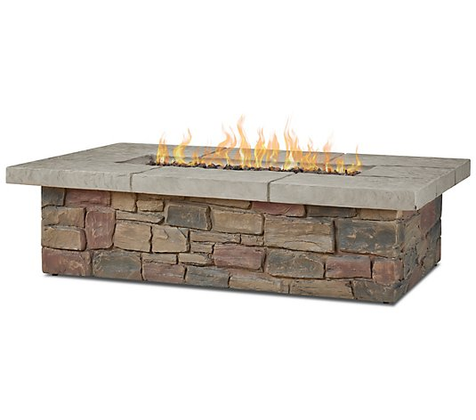 "Real Flame Sedona 52"" Rectangular Fire Table w/ NG Conversion"