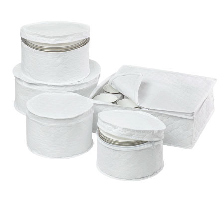 Honey-Can-Do 5-piece Dinnerware Storage Set