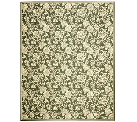 "Treasures Allover Floral Power-Loomed Rug - 8'9"" x 12'"
