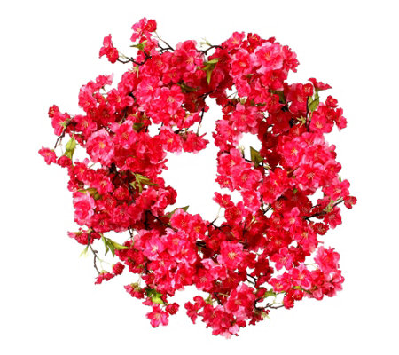 "Sweet Cherry Blosson Wreath 20""  by Valerie"