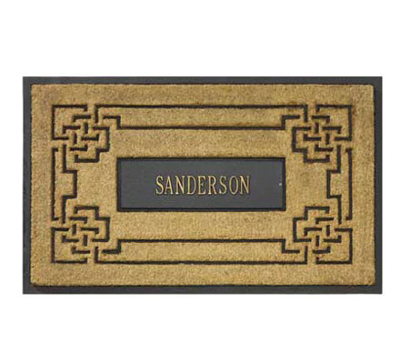 Personalized Coir Doormat with Aluminum Insert