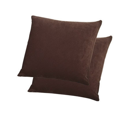 "Sure Fit Stretch Pique 18"" Pillows - Set of 2"