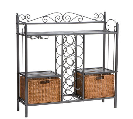 Elaine Black Iron Wine Rack
