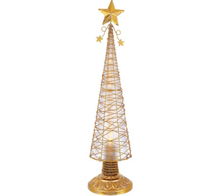 """As Is"" Kringle Express 18"" Illuminated Chasing Lights Metal Tree"