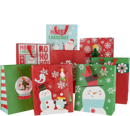 Hallmark 32pc 3D Holiday Gift Bag Bundle