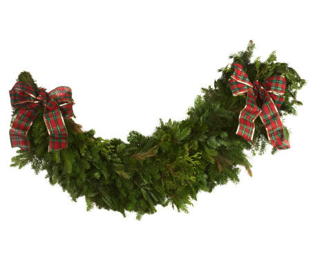 "Del. Week 11/19 48"" Fresh Balsam Mantel Garland by Valerie"