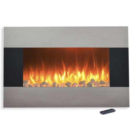 "Northwest 36"" Stainless Steel Electric Fireplace"