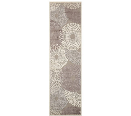 "Nourison Graphic Illusions Grey 2'3"" x 8' Runner"