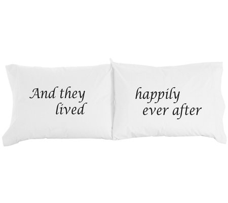 Shavel Micro Flannel Happily Ever After Print Pillowcase Pair