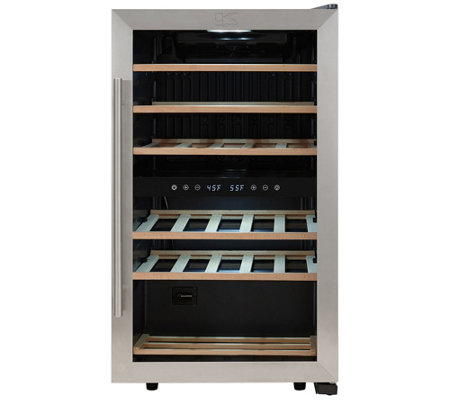 Kalorik 29-Bottle Dual-Zone Wine Cooler