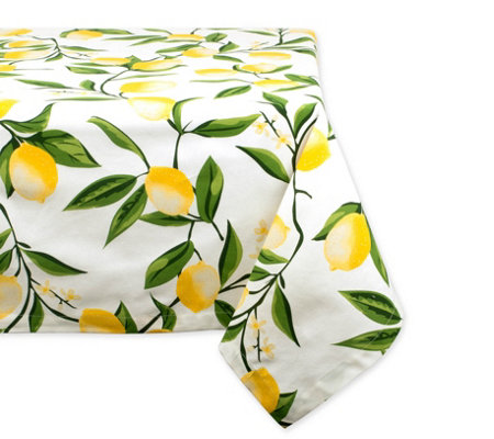 Design Imports Lemon Bliss Print Tablecloth 60 X 104