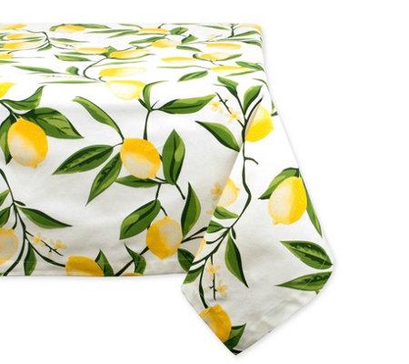 Design Imports Lemon Bliss Print Tablecloth 60 X 104