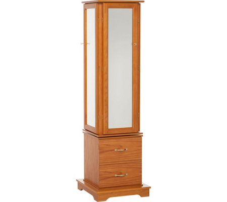 Gold & Silver Safekeeper Tri-Mirror Jewelry Armoire by Lori Greiner