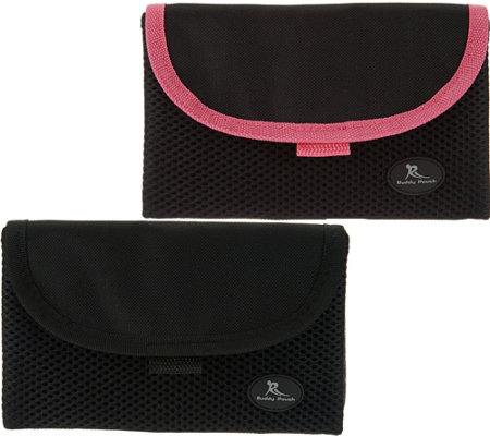 """As Is"" Set of 2 On the Go Belt Free Pouches w/ RFID by Lori Greiner"