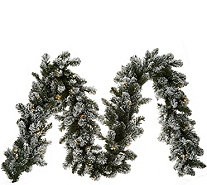 Bethlehem Lights Prelit 9 Flocked Garland H212560