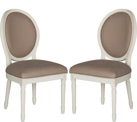 Holloway Set of 2 Oval Side Chairs by Valerie