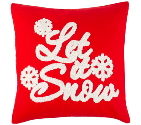 Safavieh Let It Snow 1 6 X 1 6 Pillow