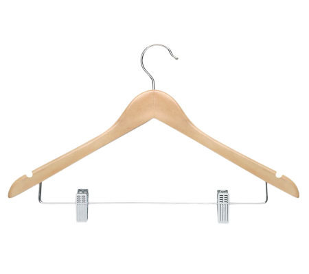 Honey-Can-Do 12-Pack Maple Finish Wood Suit Hanger