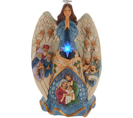 Jim Shore Heartwood Creek Lighted Nativity Angel with Music