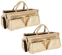 Set of 2 Ready Set Go Expandable Bag Organizers by Lori Greiner - H217861 e914a2d7d4245