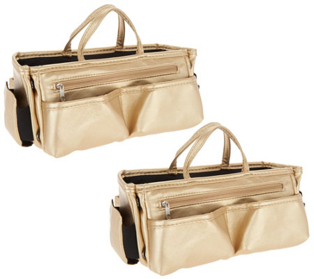Set Of 2 Ready Set Go Expandable Bag Organizers By Lori Greiner