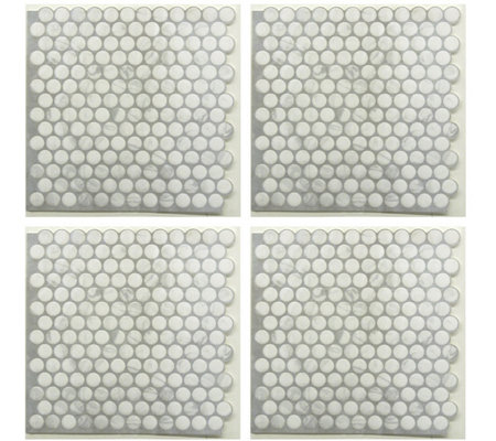 RoomMates Classic Marble Penny StickTILES - 4 Pack