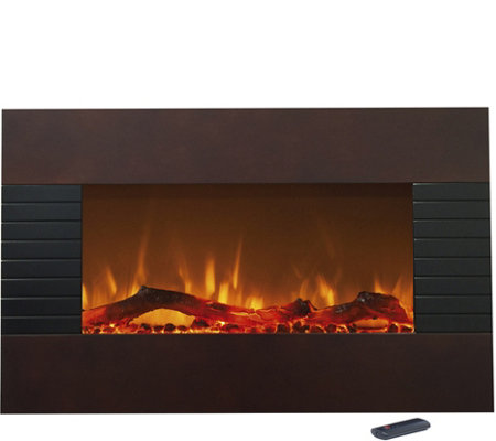 "Northwest 36"" Mahogany Electric Fireplace"