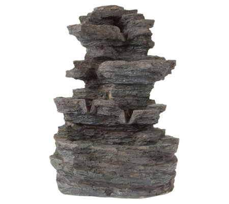 Cascading Rock Waterfall Tiered Table FountainBy Pure Garden