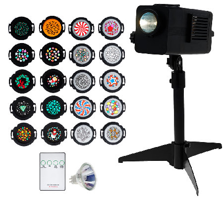 Mr. Christmas Lightshow Projector w/Motion & 20 Discs CA