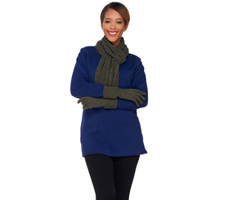 ED On Air Cashmere Blend Glove and Scarf Set by Ellen DeGeneres