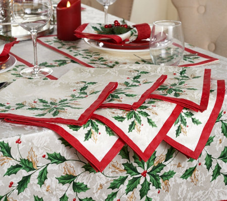 "Lenox Holiday Set of 6 20"" x 20"" Napkins"