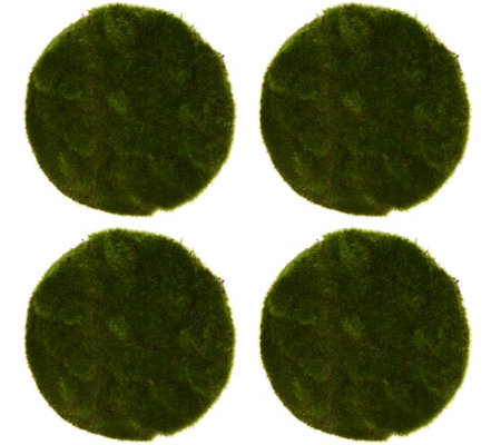 Set Of 4 8 Round Moss Mats By Valerie